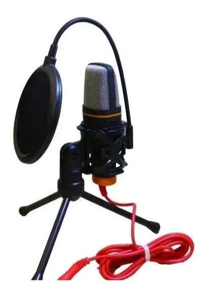 Microfono Condensador Computador + Tripode Base Ajustable