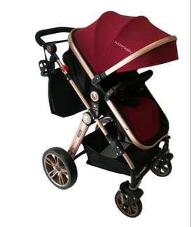 Coche Allize Happy Baby Travel System 3 en 1 - Rojo