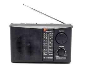 Radio SONIVOX banda AM/FM/SW, ranura Micro-SD, puerto USB y control remoto NUEVO