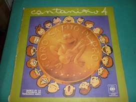 ANTIGUO DISCO VINILO LONG PLAY CANTANIÑO 4 CORO SAPITO DE ORO 1980