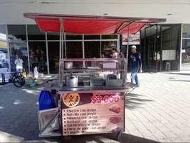 se vende carro de comidas rapidas -asados - perros - hamburguesas-asados-