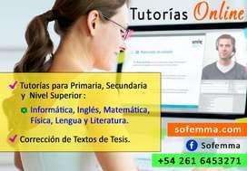 Tutorías Online de: Inglés, Informática, Lengua y Literatura
