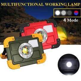 Reflector Profesional Portátil LED 30W COB recargable, para trabajos al Aire Libre