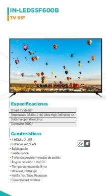 """TV 55"""" INNOVA"""