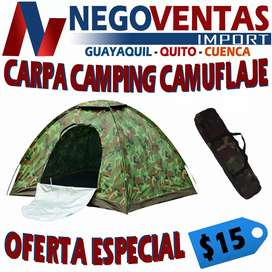 CARPA CAMPING 2X2 PARA 4 PERSONAS