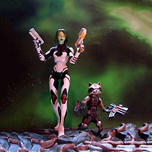 Figura Gamora And Rocket Exclusive Disney Store Diamond Marvel Select 0