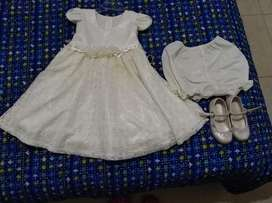 Vestido de Bautizo con Zapatos