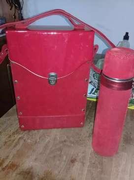 Bolso matero y termo acero usado poco. Vendo