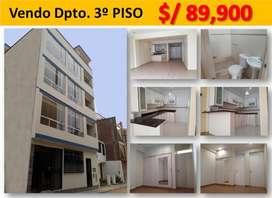 """Vendo DEPARTAMENTO 3er  PISO en """"EL REMANSO"""" de SANTA CLARA – ATE (INVERSIÓN ASEGURADA) Condominio privado"""