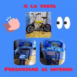 Bicicleta y escritorio