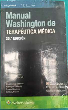 SE VENDE MANUAL DE WASHINGTON TERAPÉUTICA  MÉDICA