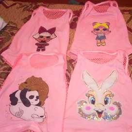 Camisetas de niñas a buen precio al mayor y detal