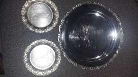 Bandejas las pequeñas de 10cem y la mediana de 20cm de diametro