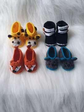 Zapatos en crochet bebe