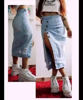 faldas en jean