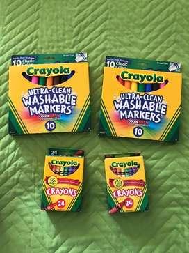 Crayalas y marcadores
