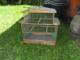 jaula artesanal para canarios