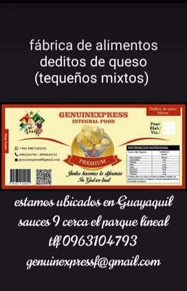 Fábrica deditos de queso tequeños en Guayaquil al mayor y detal