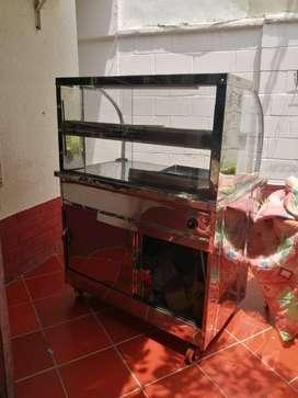 Vendo estufa industrial 3 puestos y vitrina