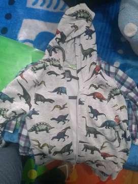 Saco motivo dinosaurios para niño talla 4
