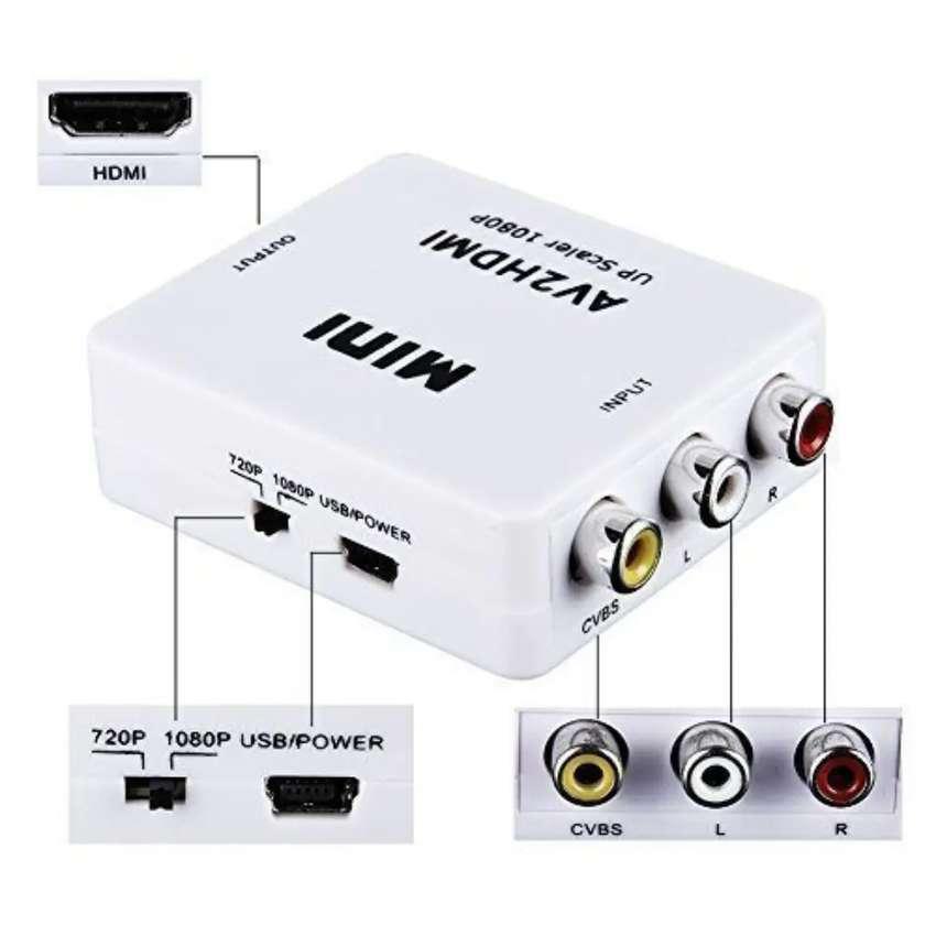 Convertidor hdmi a av o rca video y audio