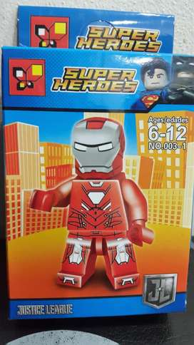 Iron Man Tony Stark Figura Lego Super Heroe Marvel Avenger