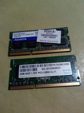 Memorias DDR3 2 X 2 Gb  c/u cambio