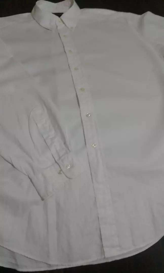 Camisa Manga Larga Polo Logo Blanco Tall 17 0