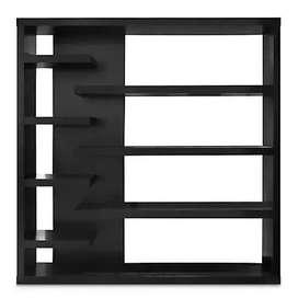 Mueble tipo repisas separador de ambientes color negro