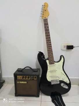Gangazo guitarra electrica + amplificador