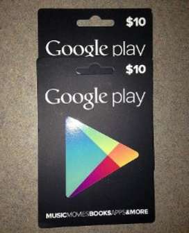 Gift Card Google Play Y Itunes