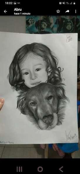 Retratos de personas y mascotas