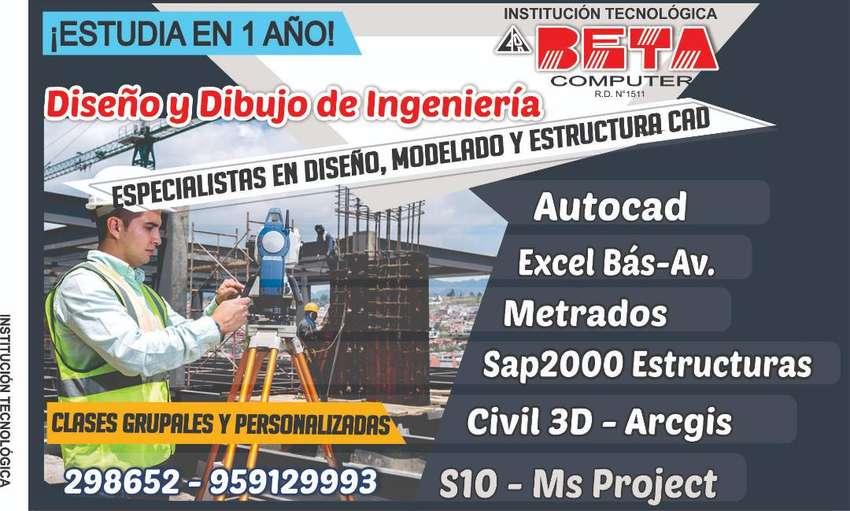 Clases de Autocad, S10, Ms Project, Sap 2000, Civil 3D Metrados, 0