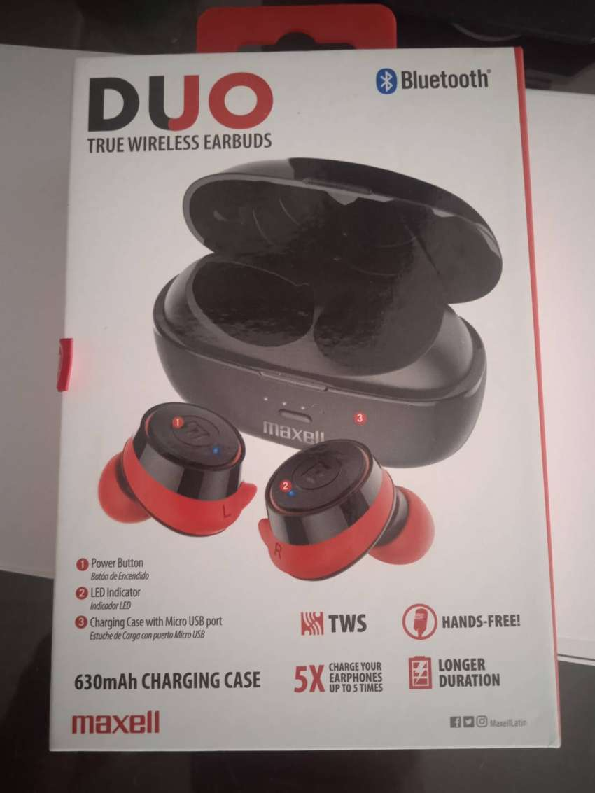 ESPECTACULARES EARBUDS MAXELL DUO