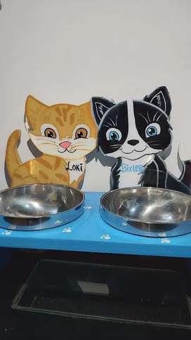 Comedero perro y gatos