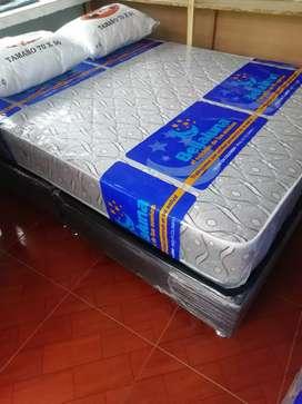 Base camas y colchones marca bella luna semiortopedico y lamiflex