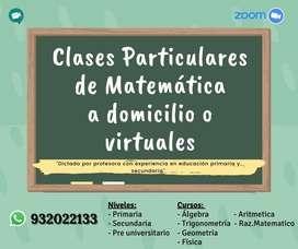 Clases Particulares de Matematica