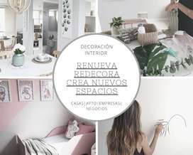 Decoración interior para casas|apartamentos|negocios|empresas