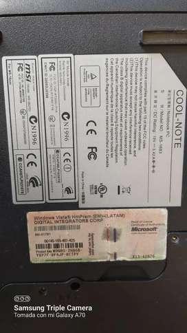 Pantalla 15.6 LCD portátil con chasis Mickey mouse, teclado, quemador, cool note