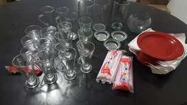 Cristalería en perfecto estado para negocio u hogar.