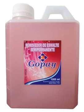 Removedor semipermanente x 1000ml,Gopay .