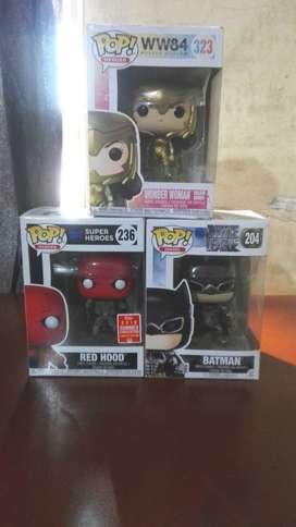Funko pop Dc Mujer Maravilla Batman Red Hood Figuras Juguetes