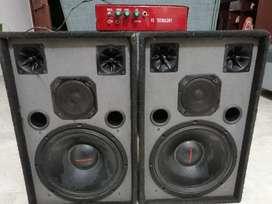 Vendo cabinas de sonido y amplificador pequeño