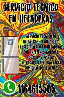 Service de Heladeras Reparacion Carga Ga