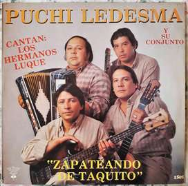 Vinilo Lp Zapateando De Taquito Puchi Ledesma Y Su Conjunto 1988