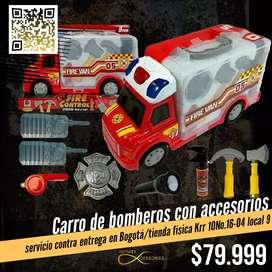 Carro de bomberos con accesorios
