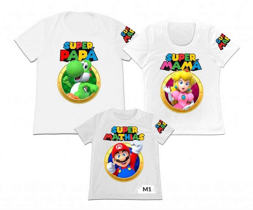 camisetas Familiar super mario ideal para Fiestas 0