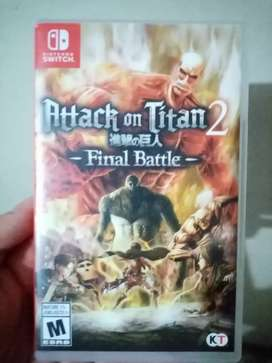 Attack on titan 2 final battle SWITCH usado