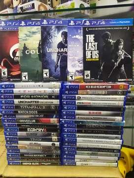 Juegos de PS4 usados