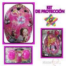 Kit De Protecion Soy Luna Incluye Casco Coderas Muñequeras 0